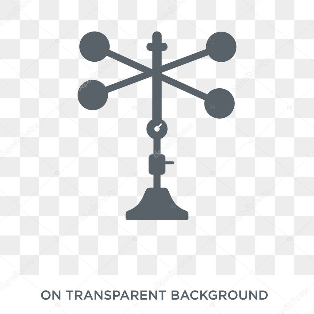 Anemometer icon. Anemometer design concept from Weather collection. Simple element vector illustration on transparent background.