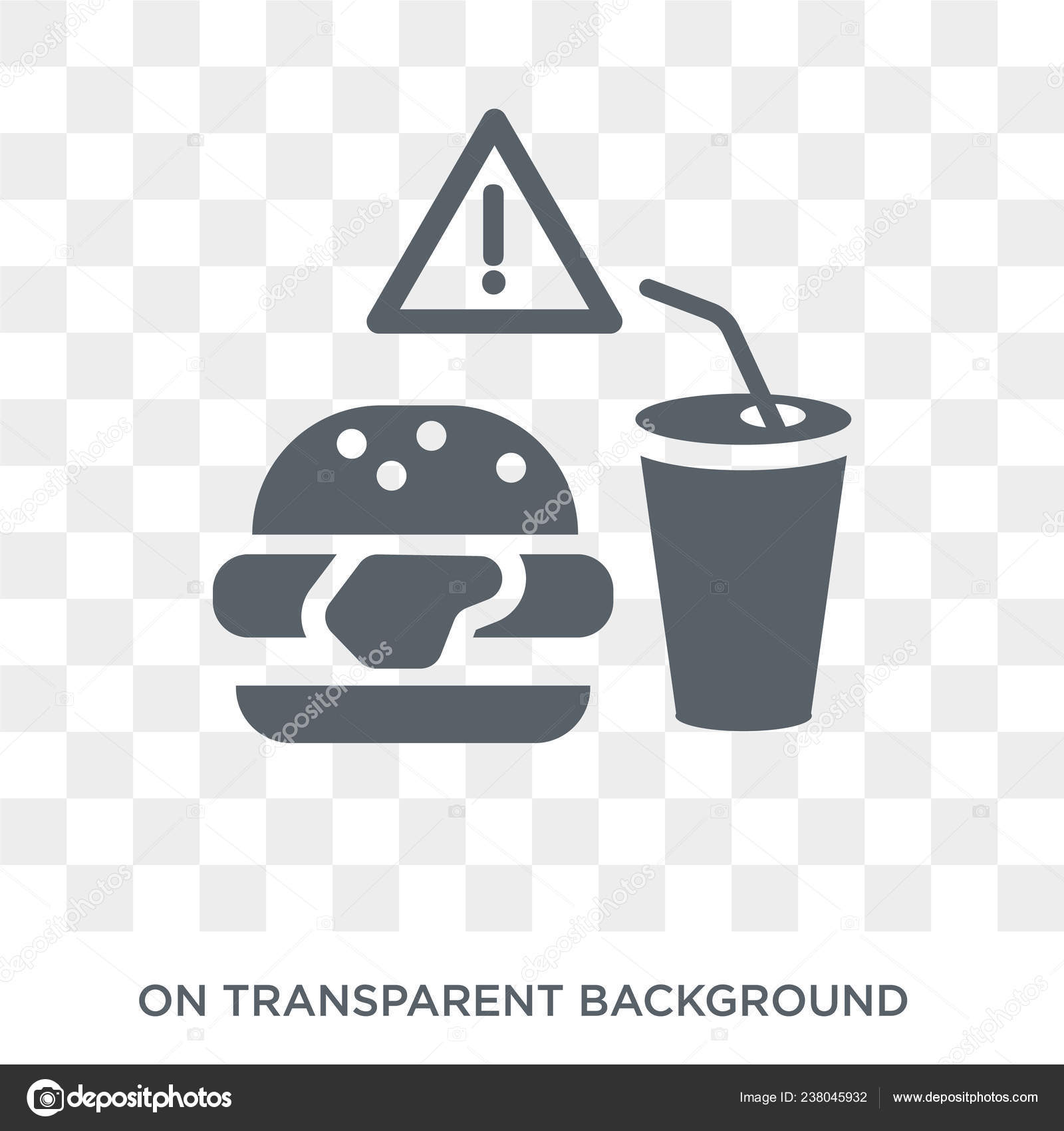 Background: food with transparent | Fast Food Icon Trendy