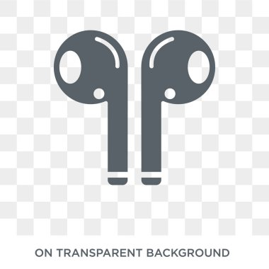 Airpods icon. Trendy flat vector Airpods icon on transparent background from Internet Security and Networking collection. High quality filled Airpods symbol use for web and mobile