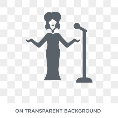 cinema celebrity icon. Trendy flat vector cinema celebrity icon on transparent background from Cinema collection. High quality filled cinema celebrity symbol use for web and mobile