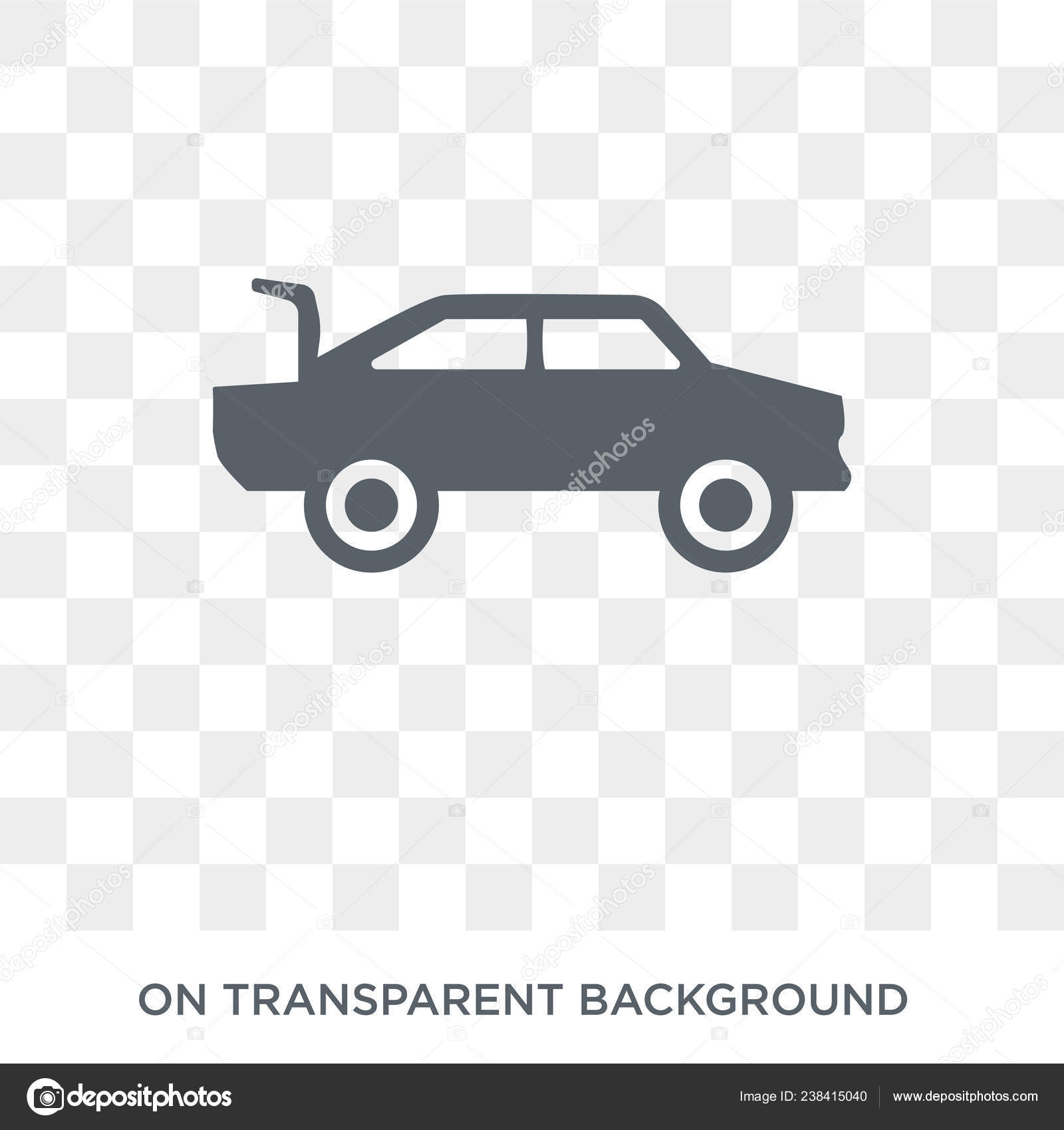 Car Boot Icon Car Boot Design Concept Car Parts Collection Stock