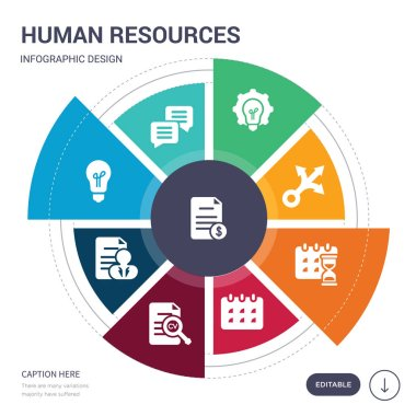 set of 9 simple human resources vector icons. contains such as contract, conversation, creativity, curriculum, curriculum vitae, date, deadline icons and others. editable infographics design