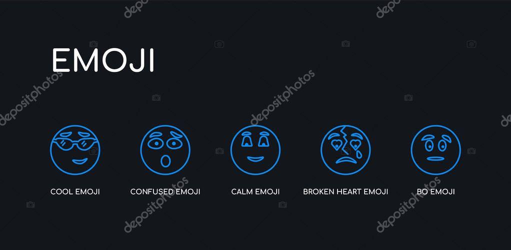 Outline heart emoji black 🖤 Black