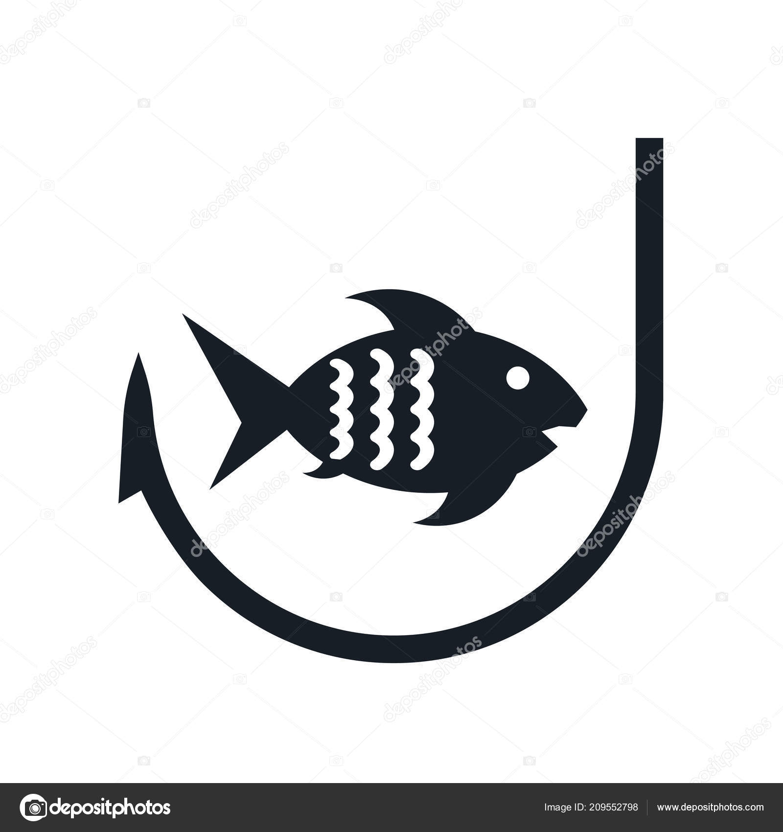 Fishing Icon Vector Isolated White Background Your Web Mobile App