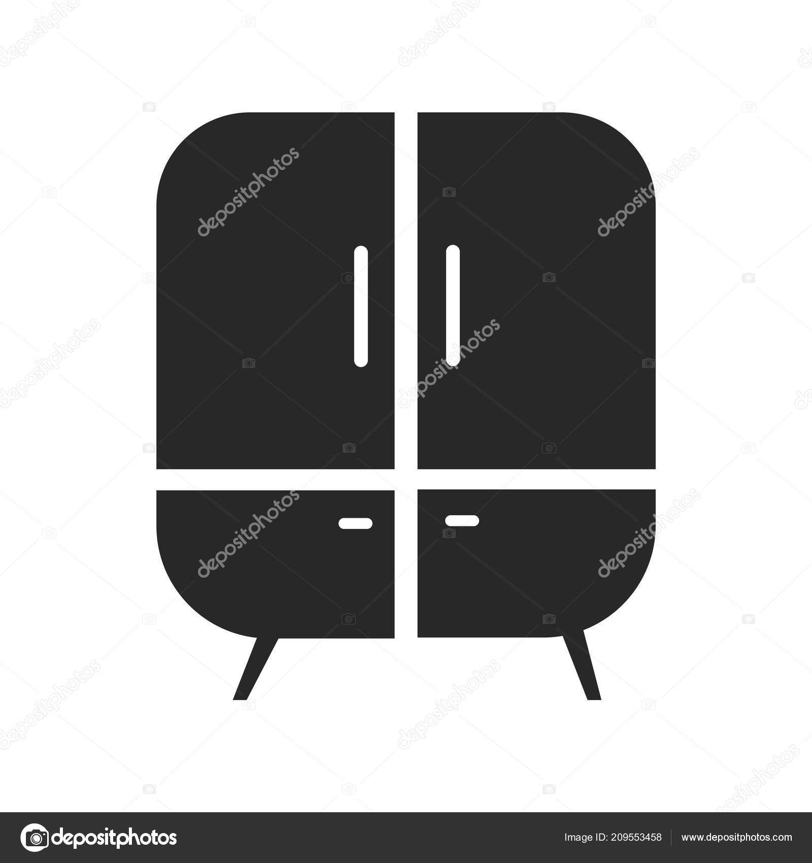 Web Mobil Uygulamasi Tasarim Dolap Logo Kavrami Icin Beyaz