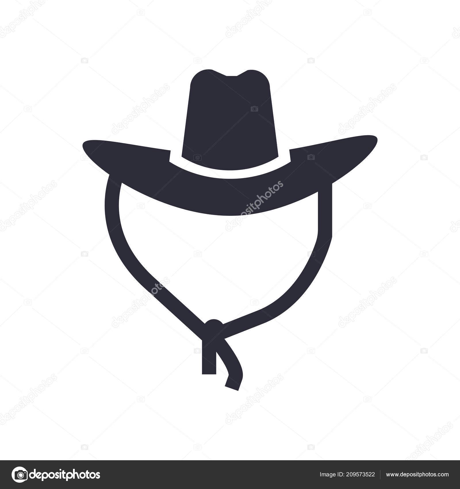 Sombrero Vaquero Icono Vector Aislado Sobre Fondo Blanco Para Diseño —  Archivo Imágenes Vectoriales 44aa335643d