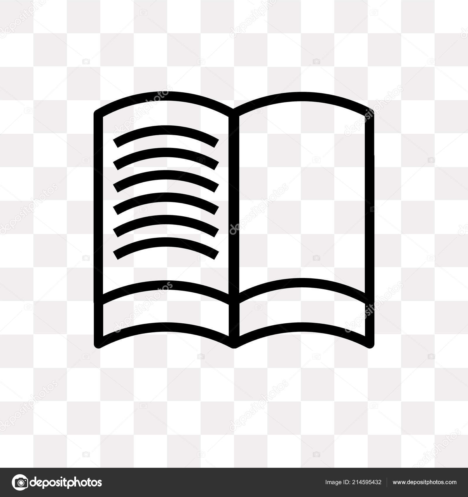 Reading Book Vector Icon Isolated Transparent Background