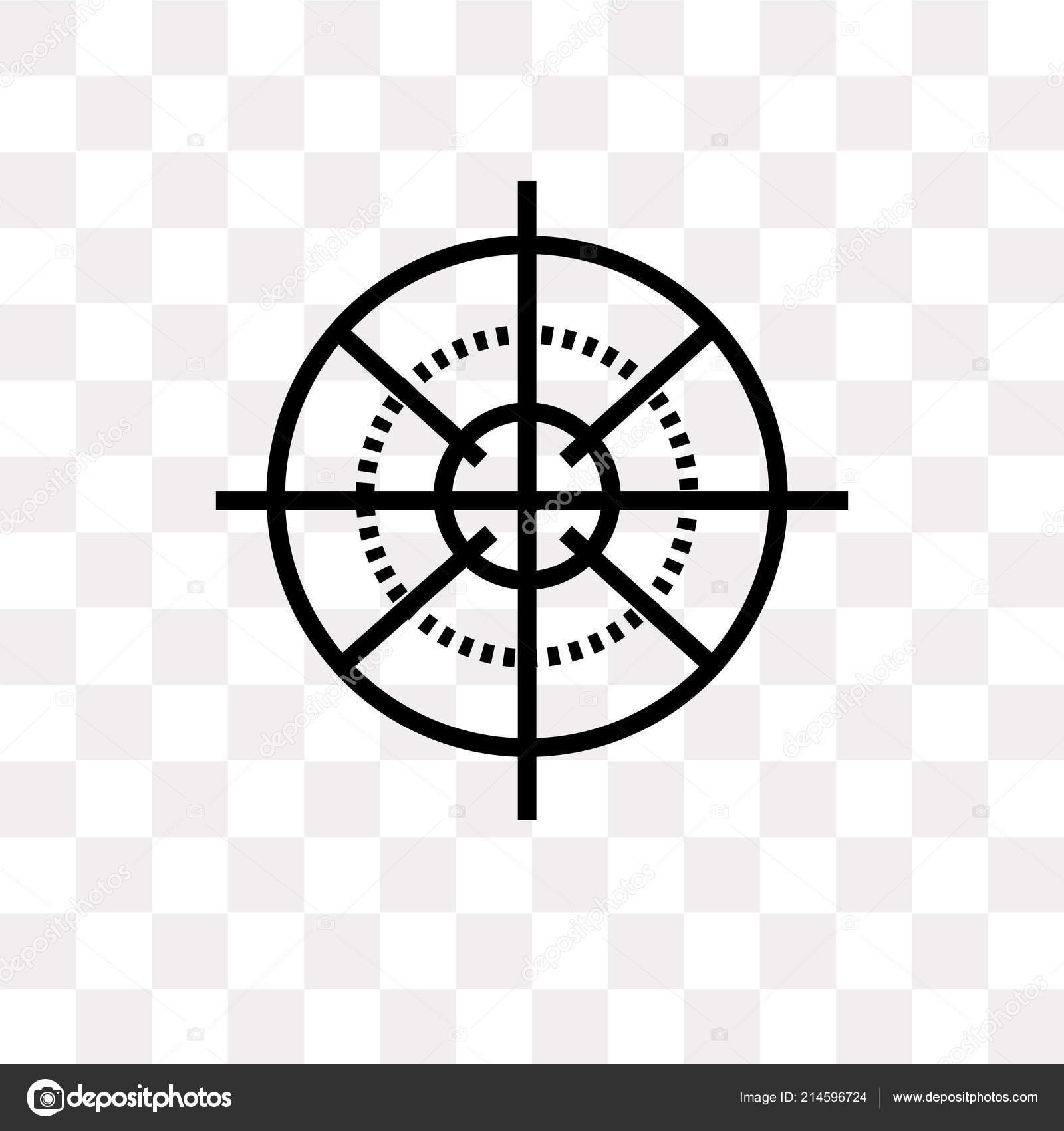 Sniper Target Transparent Sniper Gun Target Vector Icon