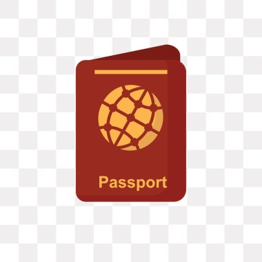 Passport vector icon isolated on transparent background, Passpor