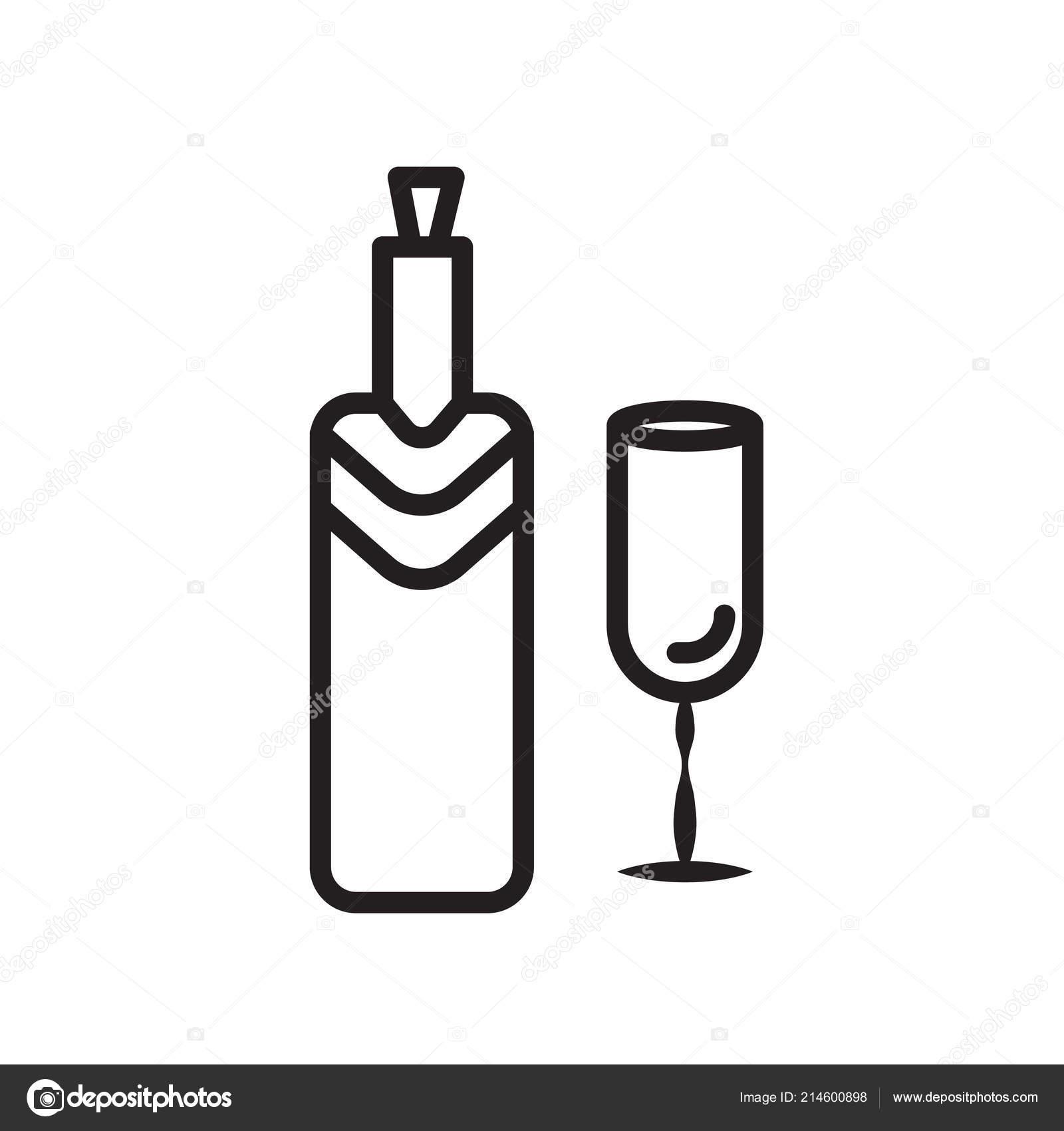 Вина значок вектора, изолированные на белом фоне, вина знак