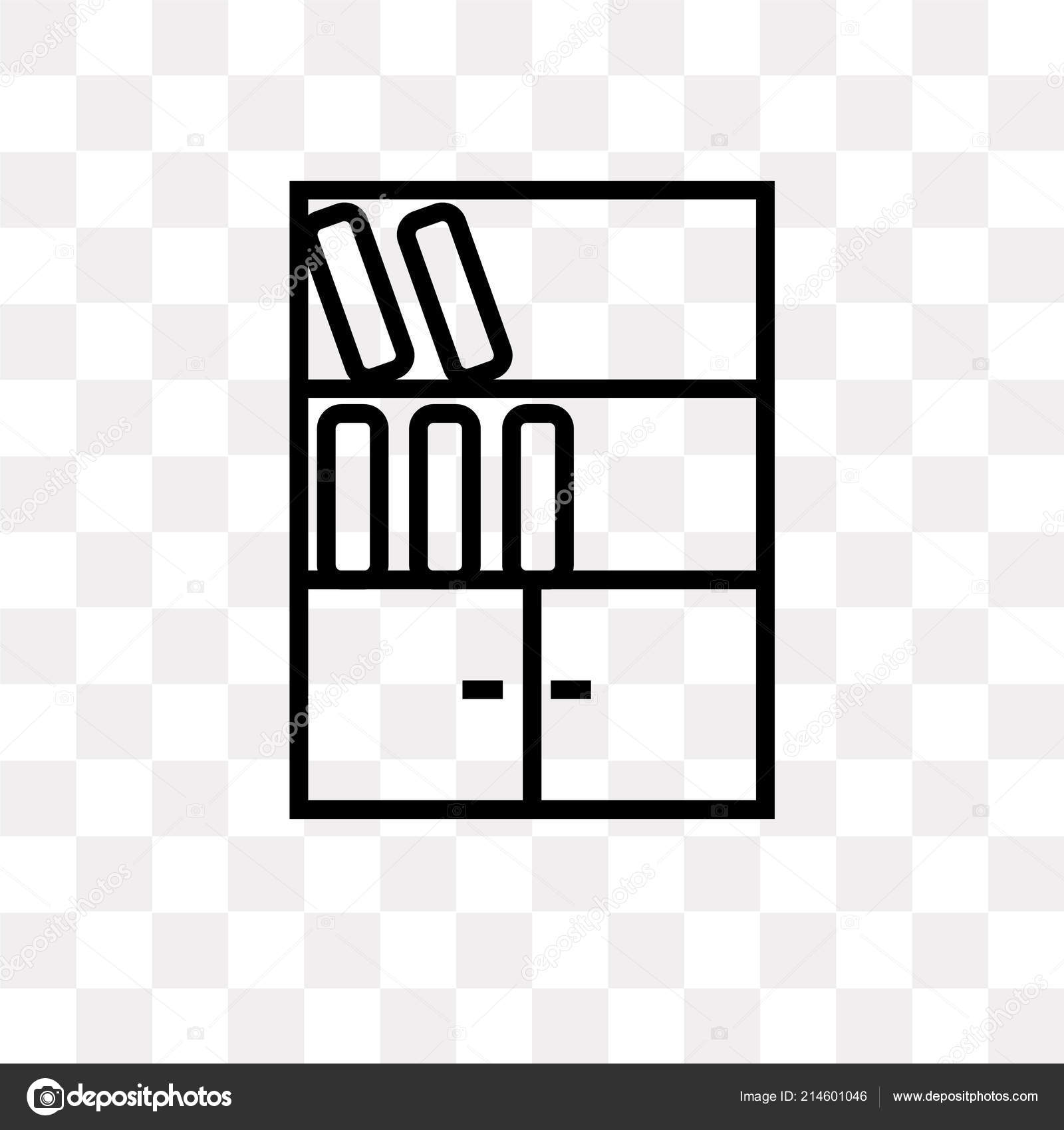 Bookshelf Vector Icon Isolated On Transparent Background Logo Concept By MMvector