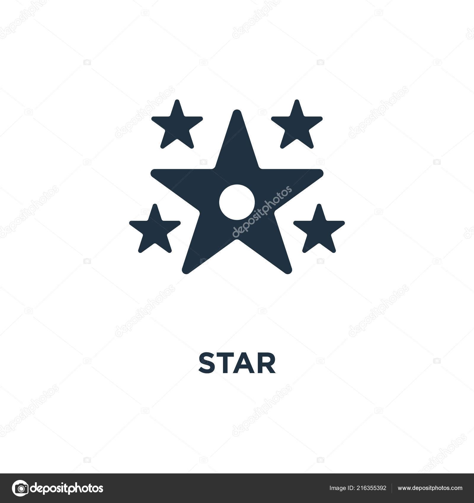 Star Icon Black Filled Vector Illustration Star Symbol White