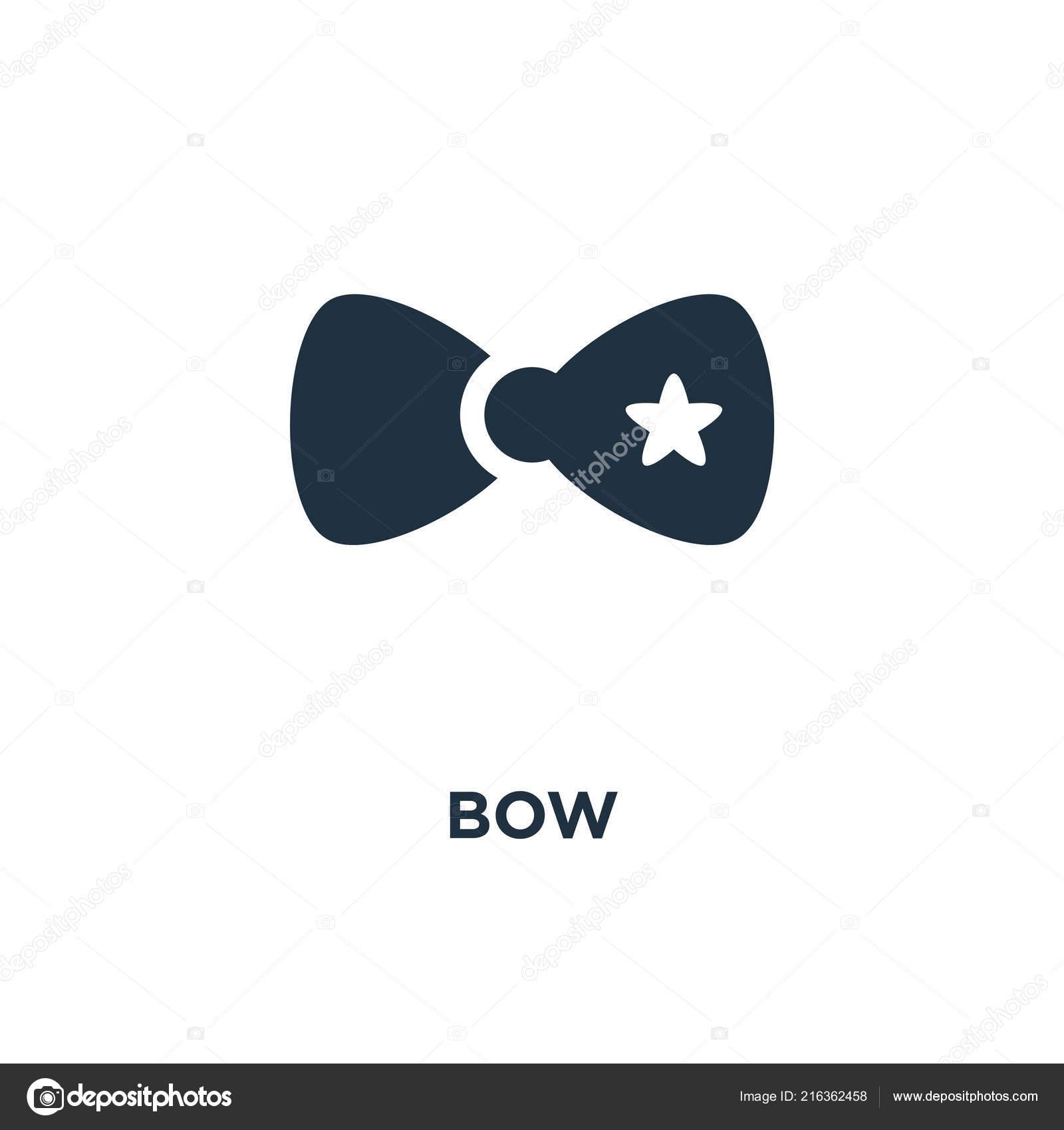 Bow Icon Black Filled Vector Illustration Bow Symbol White