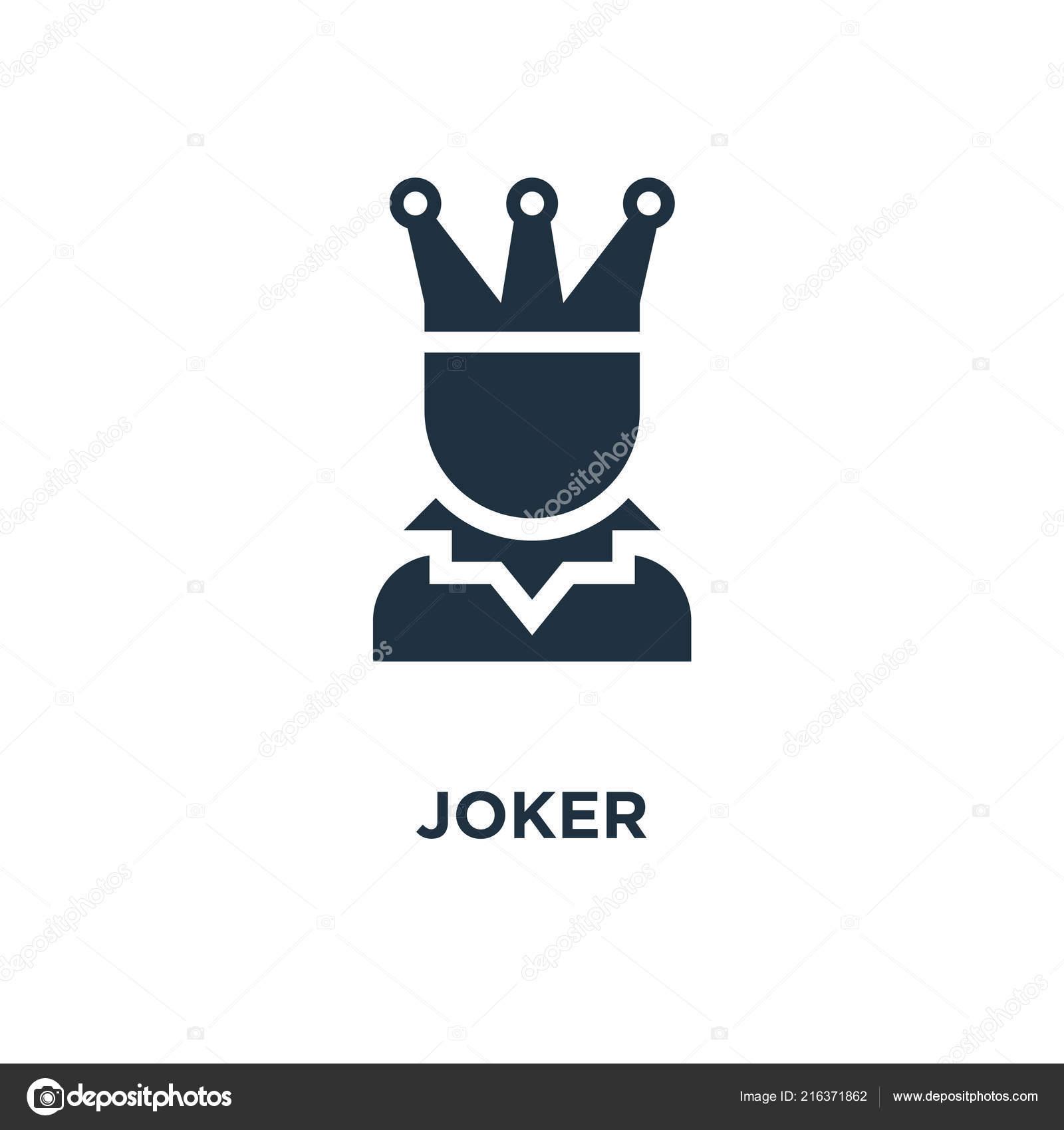 Joker Icon Black Filled Vector Illustration Joker Symbol