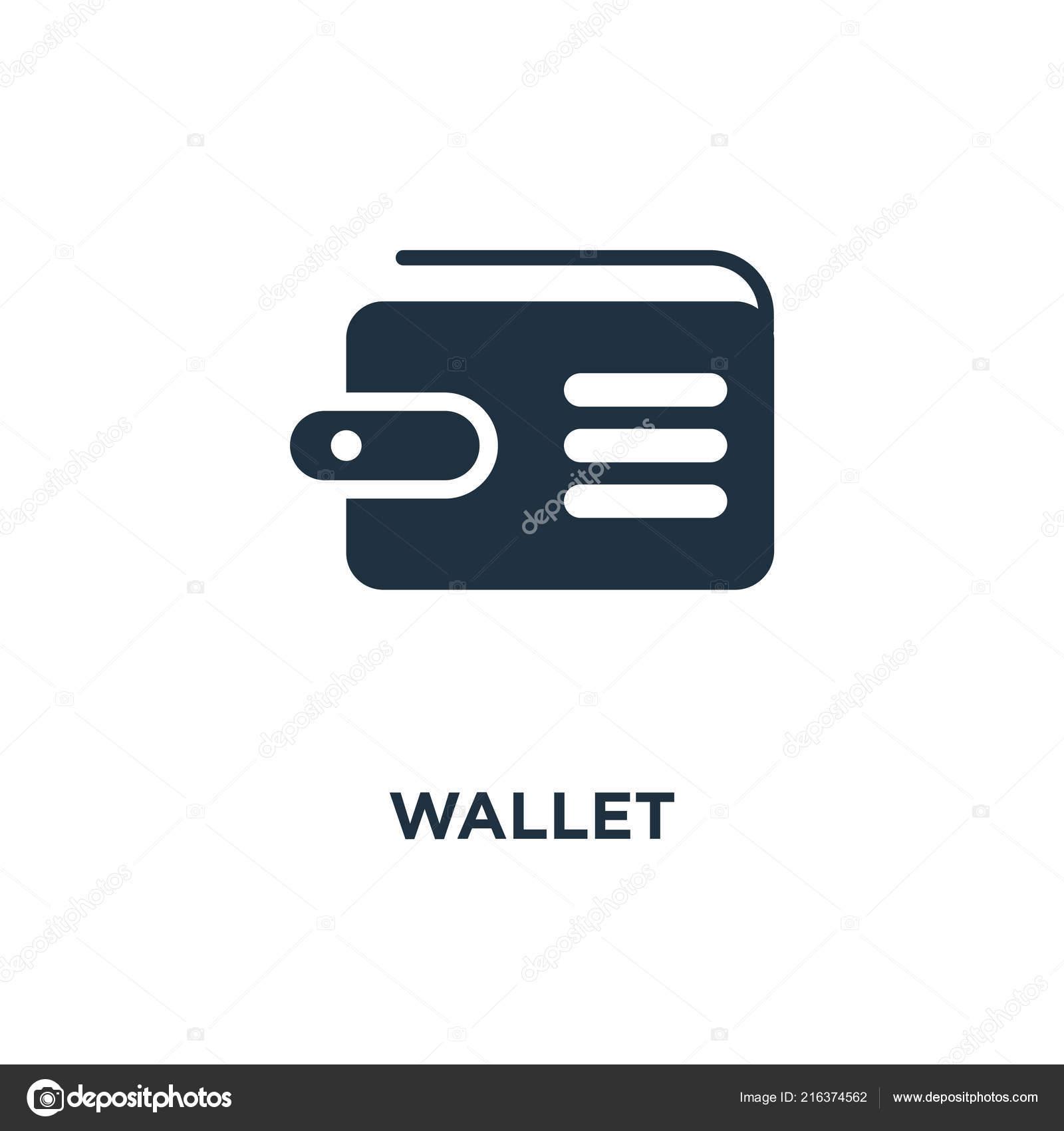 wallet icon black filled vector illustration wallet symbol white background stock vector c mmvector 216374562 depositphotos