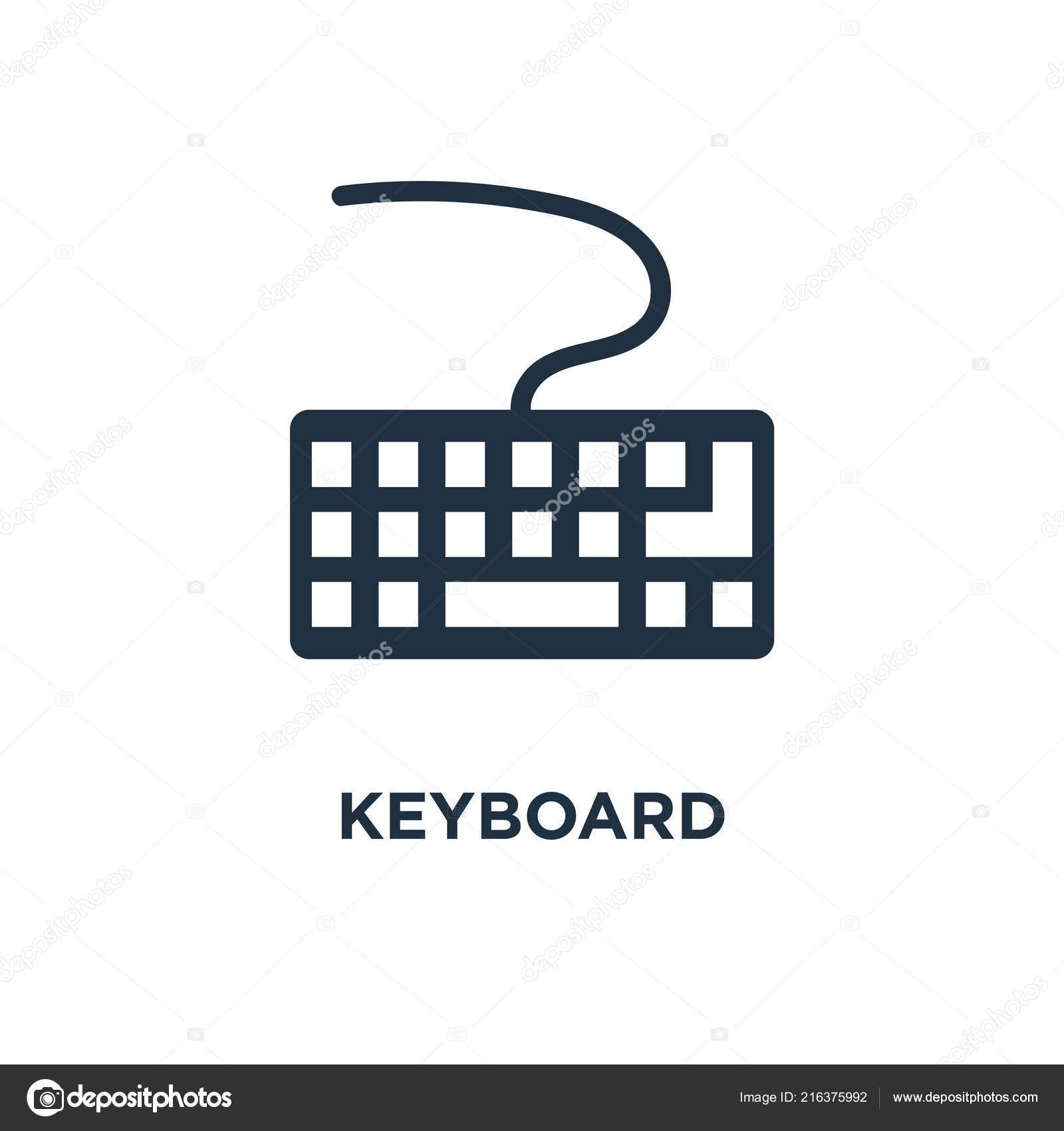 Keyboard Icon Black Filled Vector Illustration Keyboard Symbol White