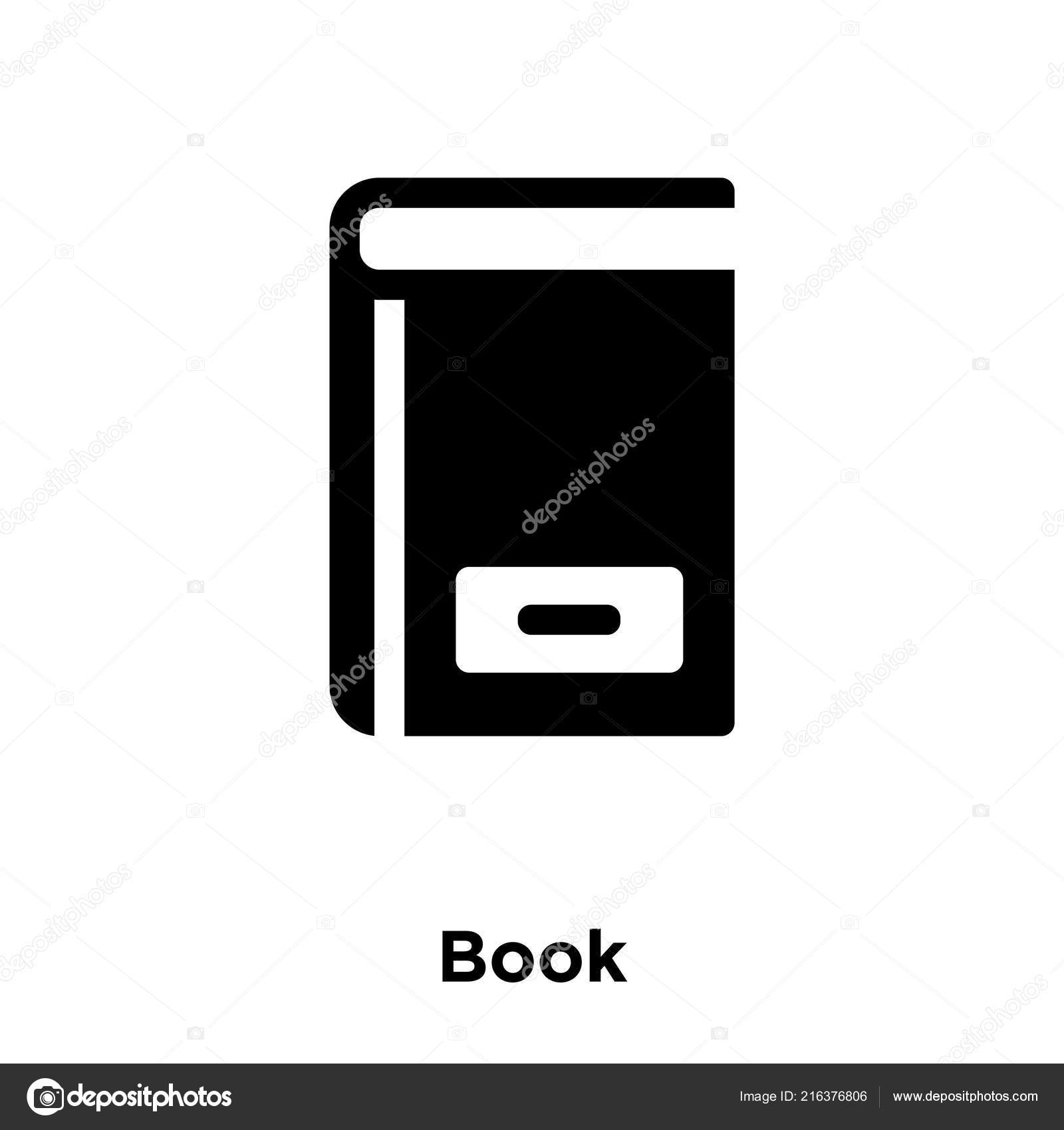 Book Icon Vector Isolated On White Background Logo Concept Of Sign Transparent Filled Black Symbol By Muslumstock