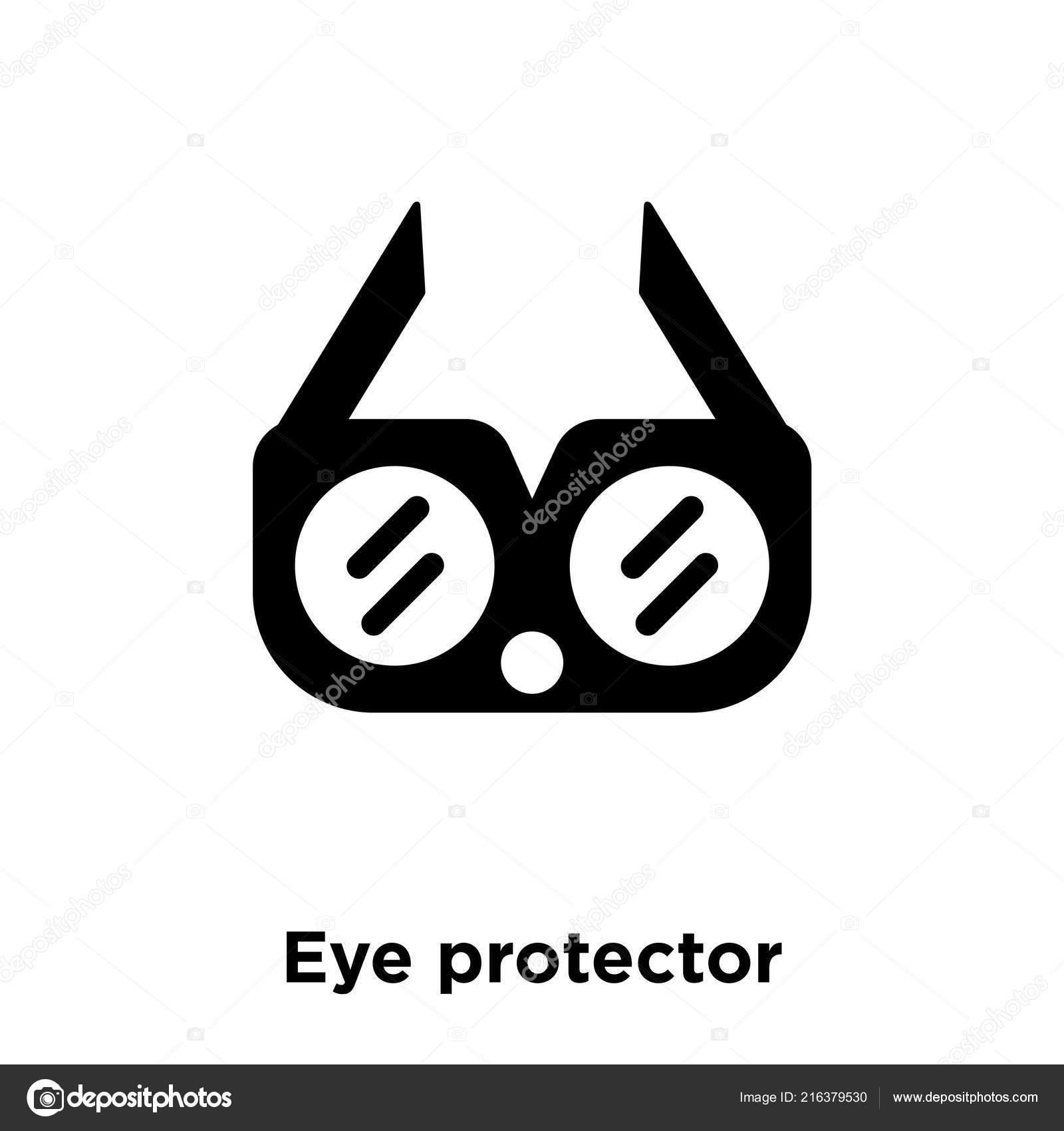 Eye Protector Icon Vector Isolated White Background Logo Concept Eye
