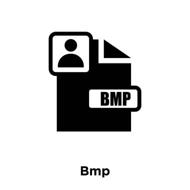 Bmp icon vector isolated on white background, logo concept of Bmp sign on transparent background, filled black symbol