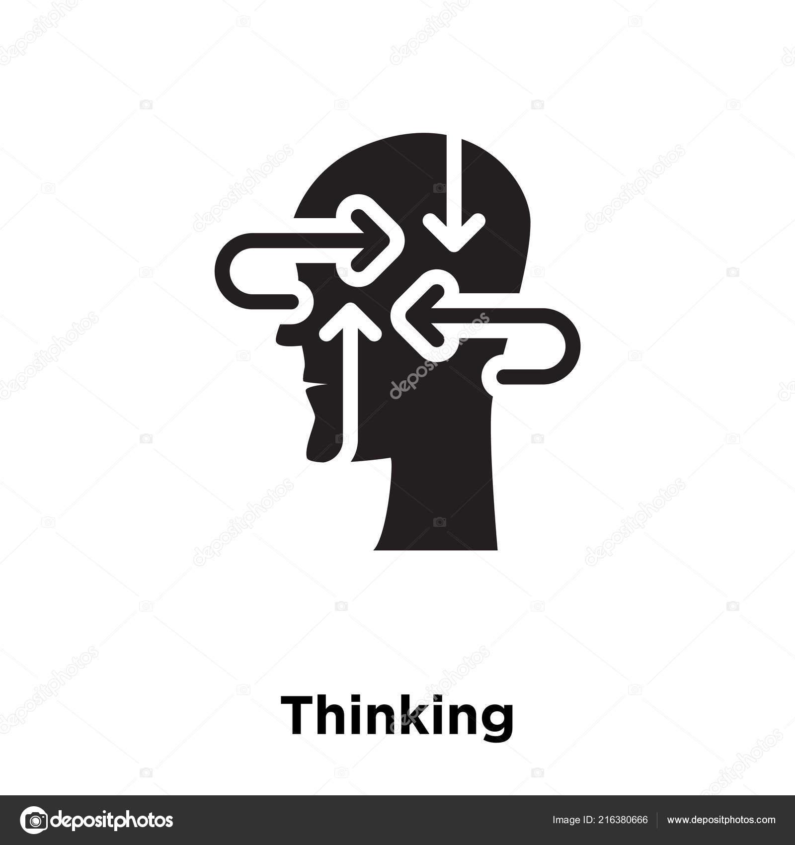 Thinking Icon Vector Isolated White Background Logo Concept Thinking