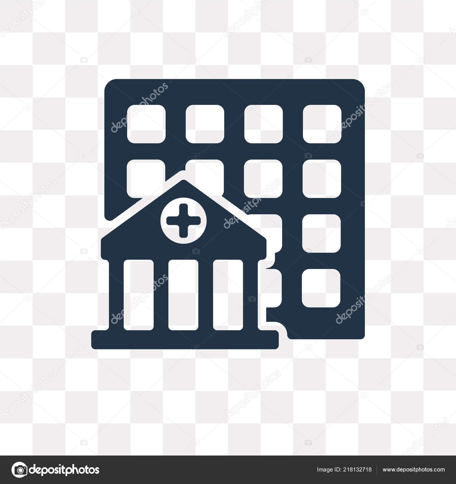 Hospital Vector Icon Isolated Transparent Background