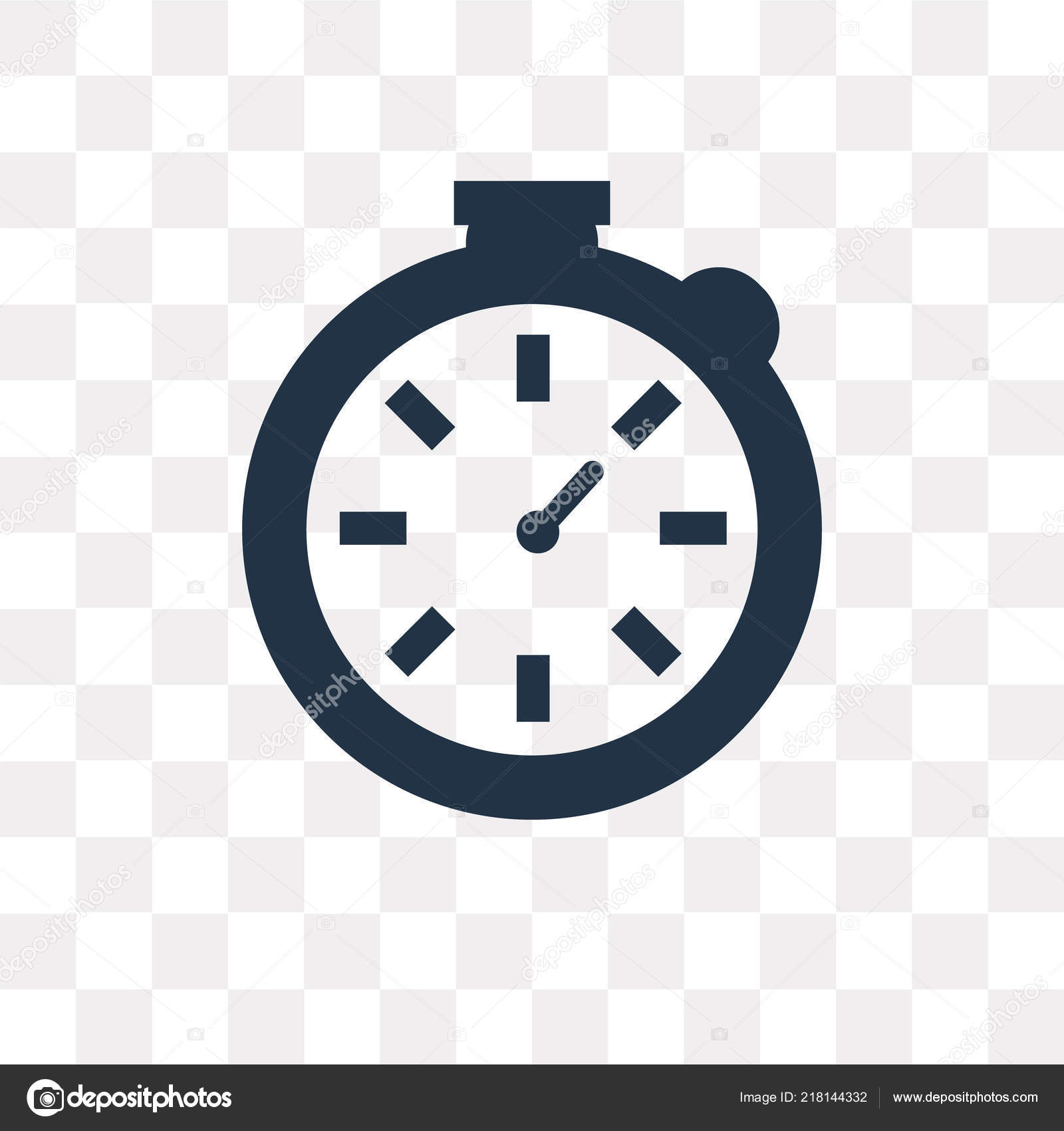Stopwatch Vector Icon Isolated Transparent Background