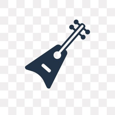 Guitar vector icon isolated on transparent background, Guitar transparency concept can be used web and mobile