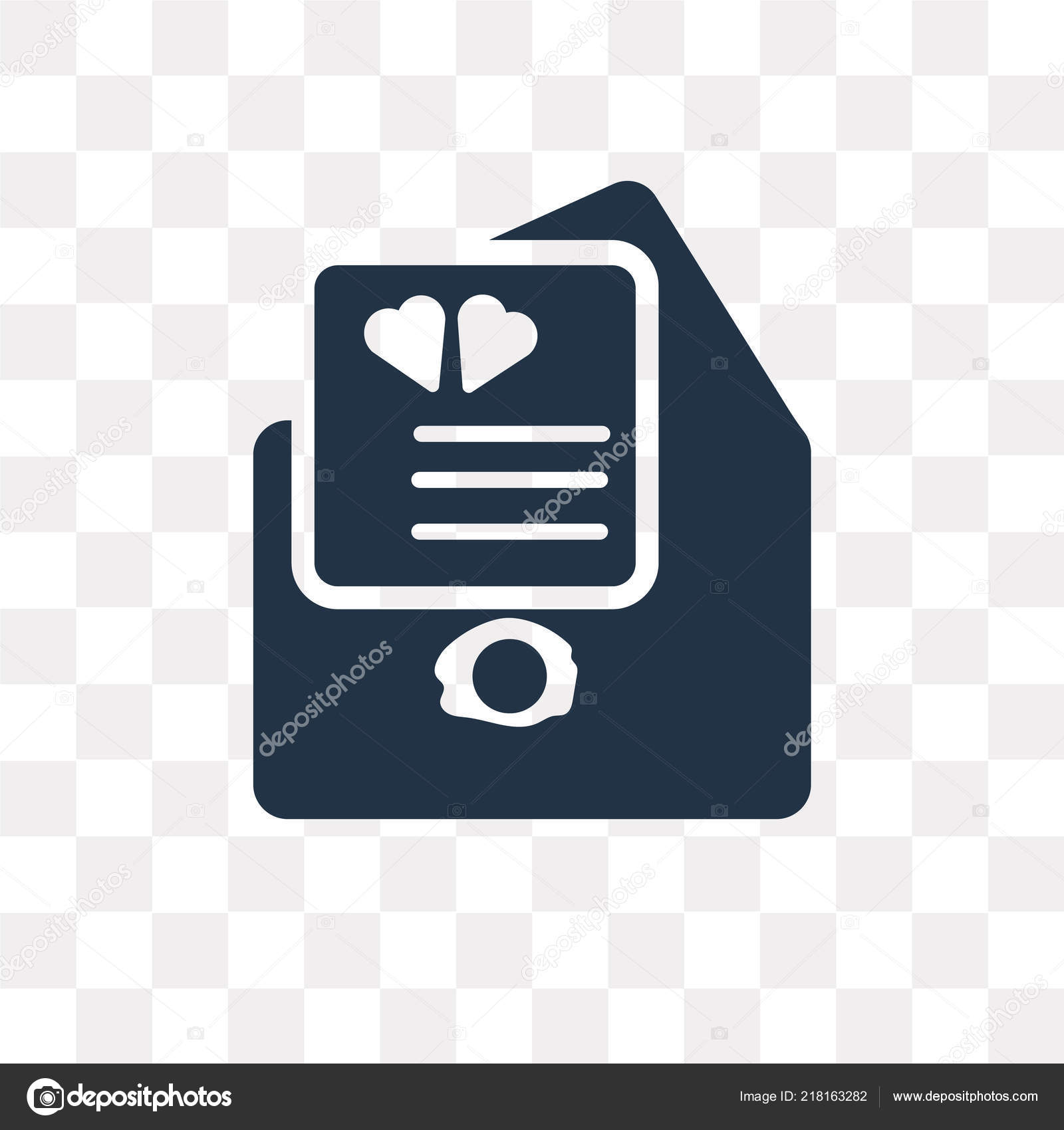 open envelope heart letter vector icon isolated transparent background open stock vector