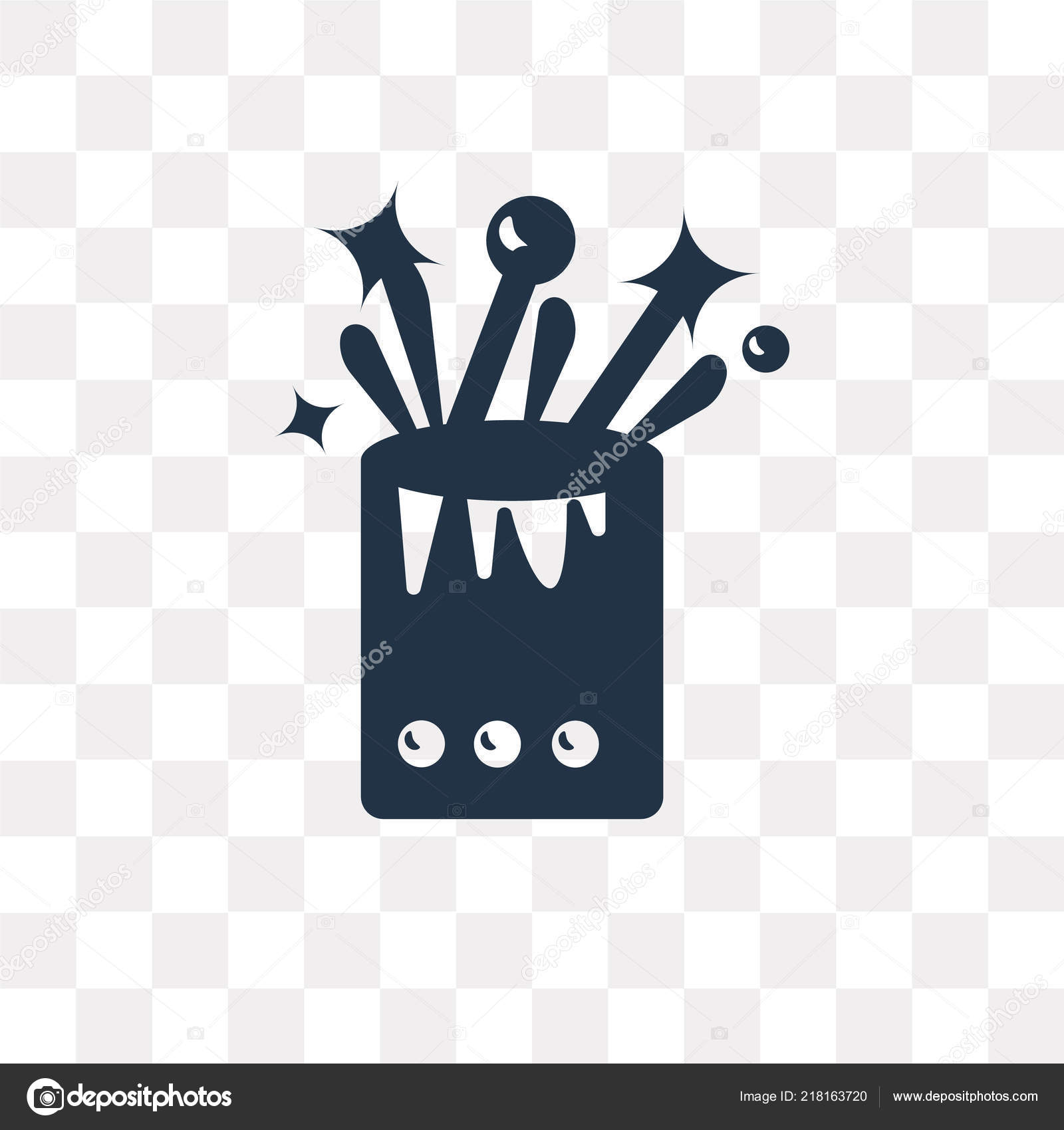 Birthday Cake Vector Icon Isolated Transparent Background Birthday