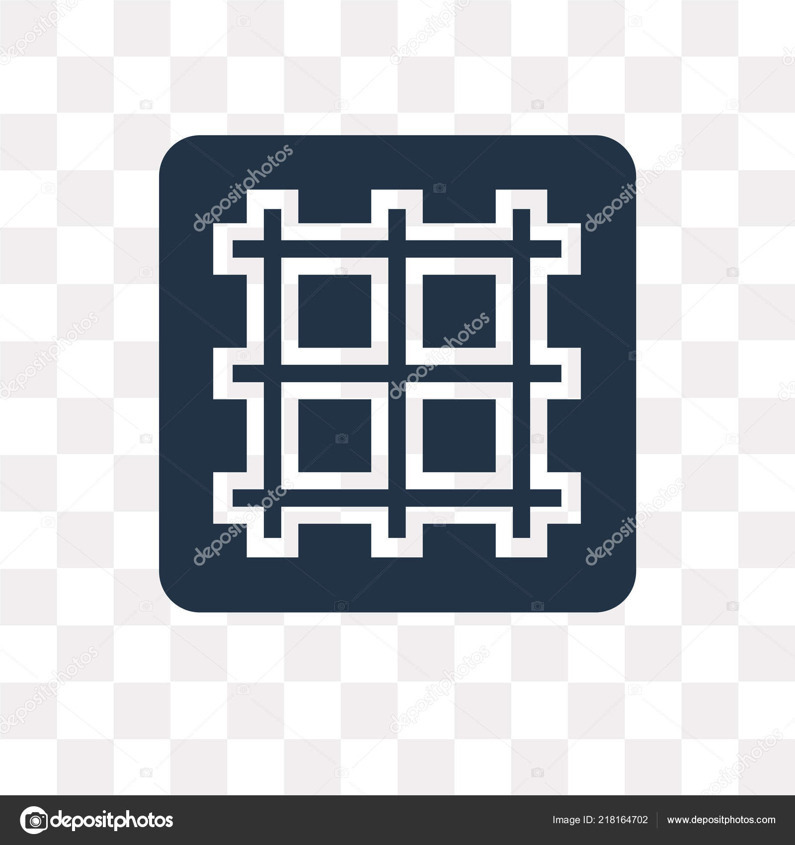 Grid Vector Icon Isolated Transparent Background Grid
