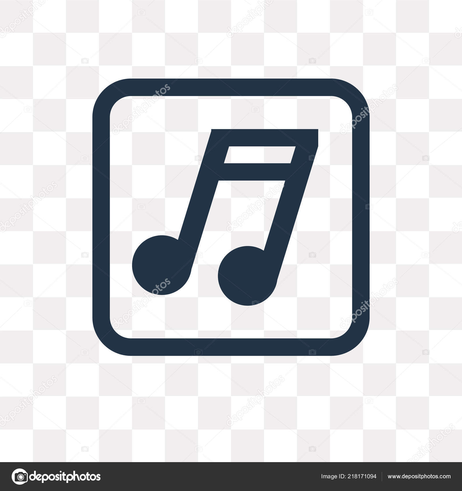 Music Note Vector Icon Isolated Transparent Background Music Note