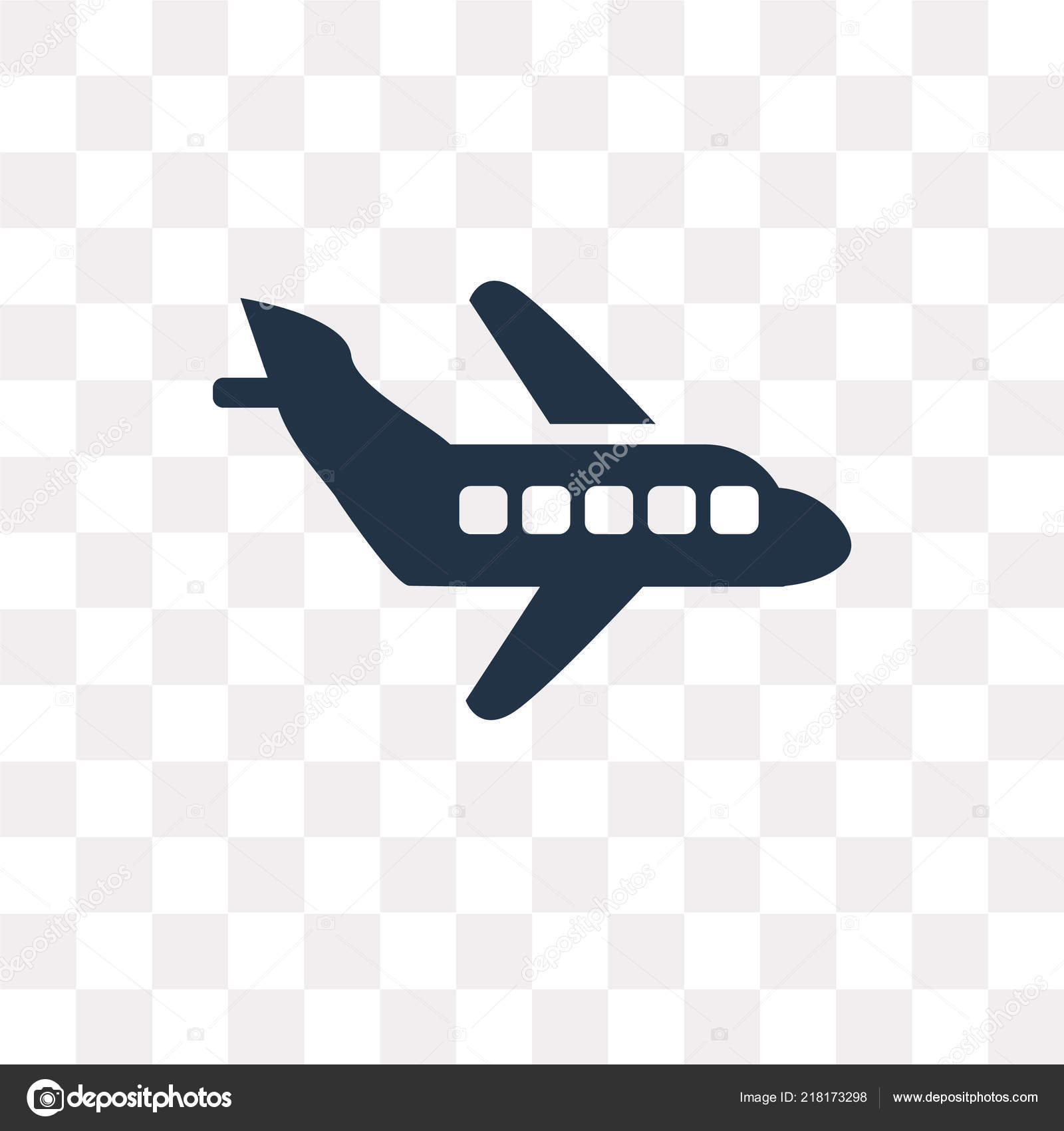 Airplane Vector Icon Isolated Transparent Background Airplane