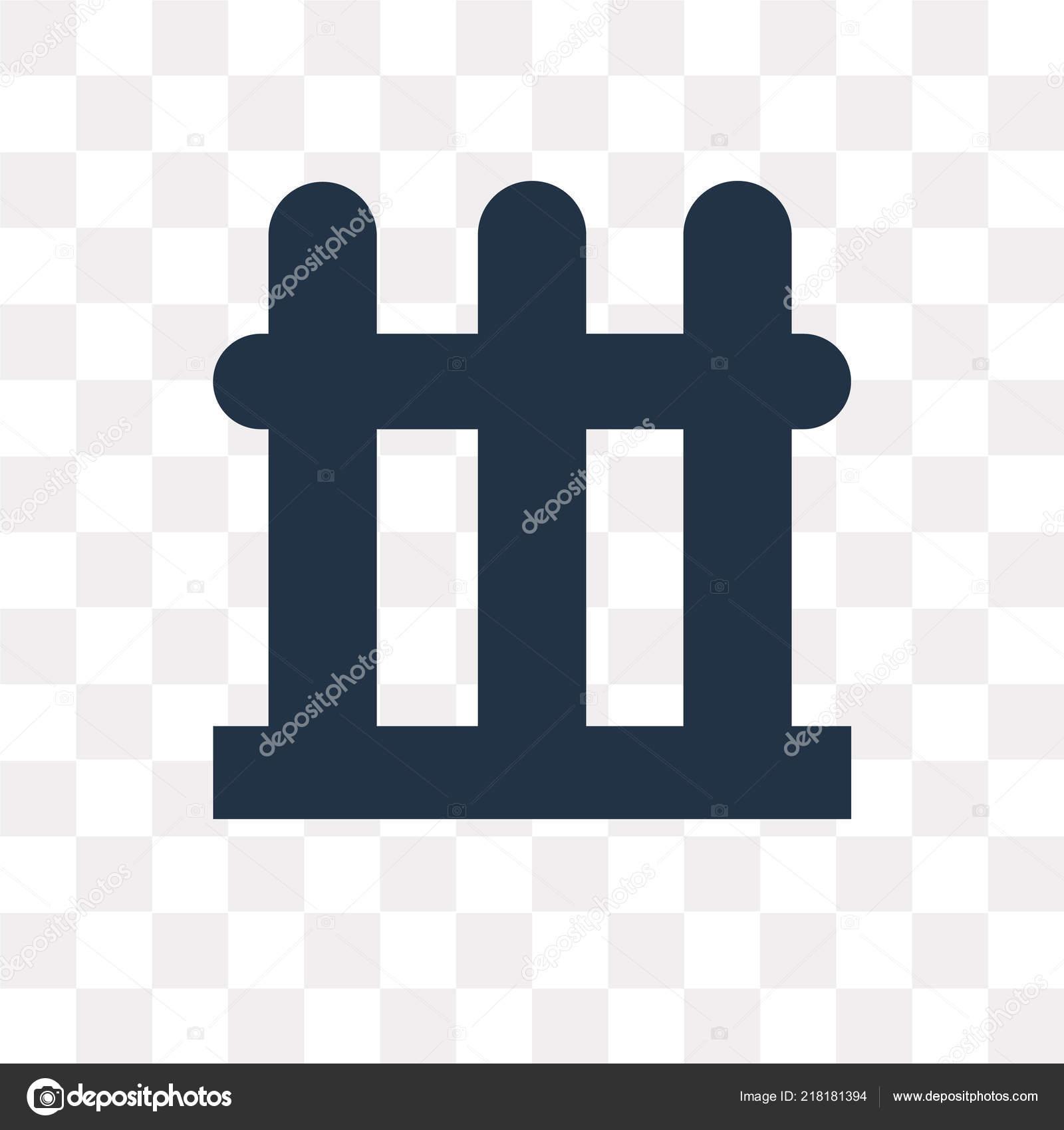 Zaun Vektor Icon Isoliert Auf Transparenten Hintergrund Zaun