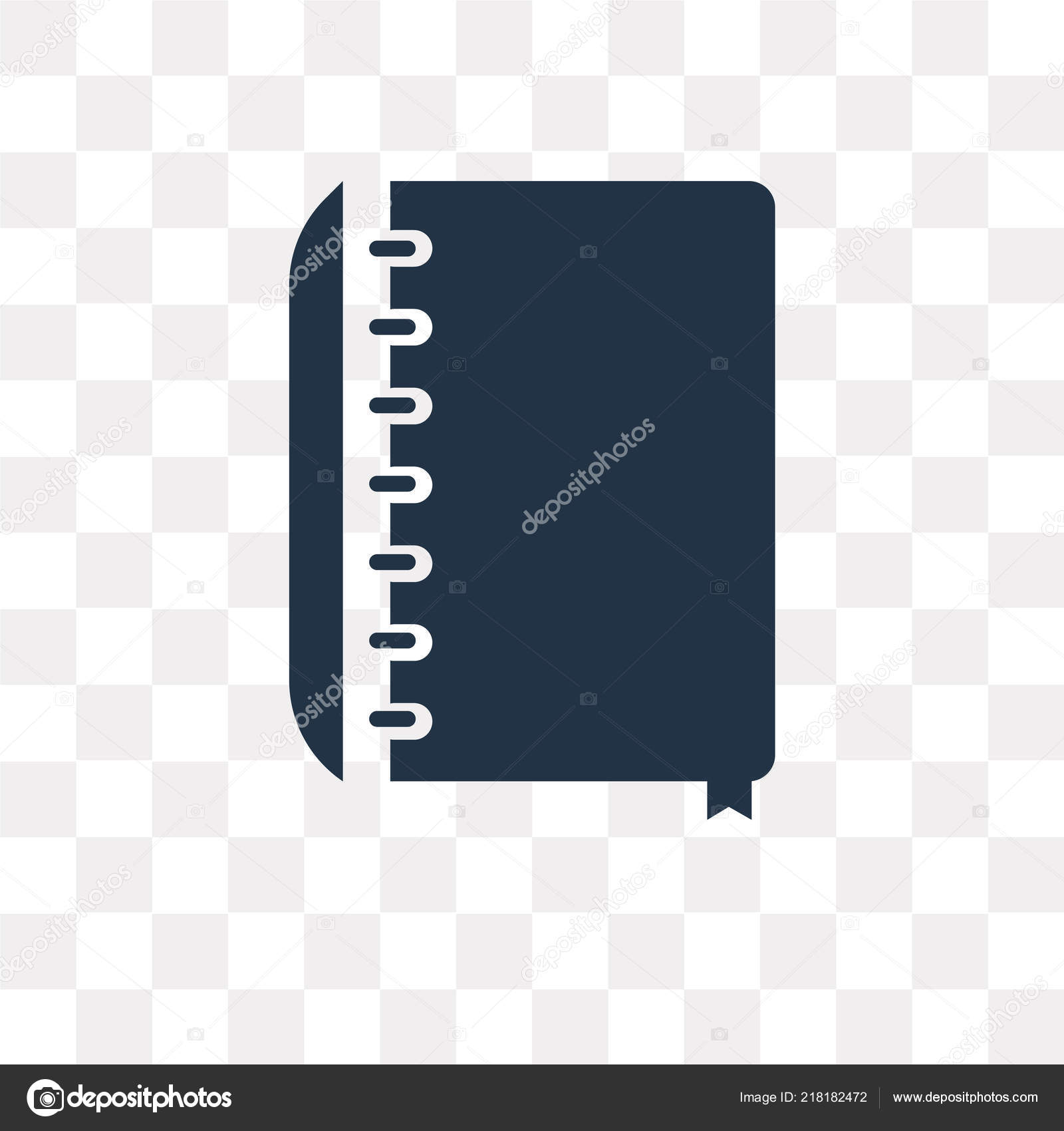 appointment book vector icon isolated transparent background