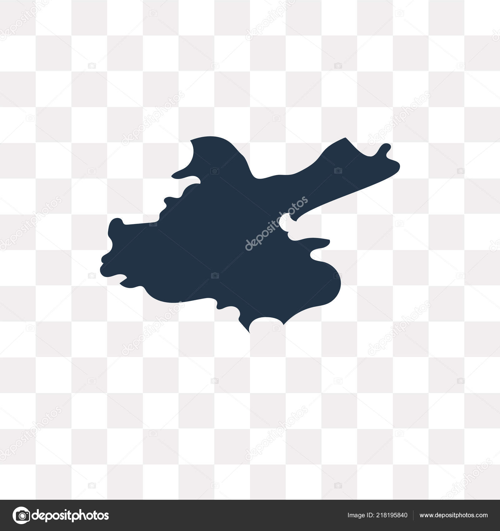 China Map Vector Icon Isolated Transparent Background China Map