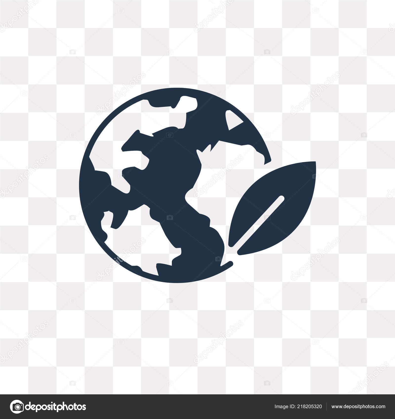 Globe Vector Icon Isolated Transparent Background Globe