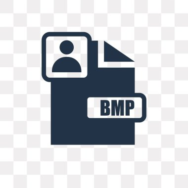 Bmp vector icon isolated on transparent background, Bmp transparency concept can be used web and mobile