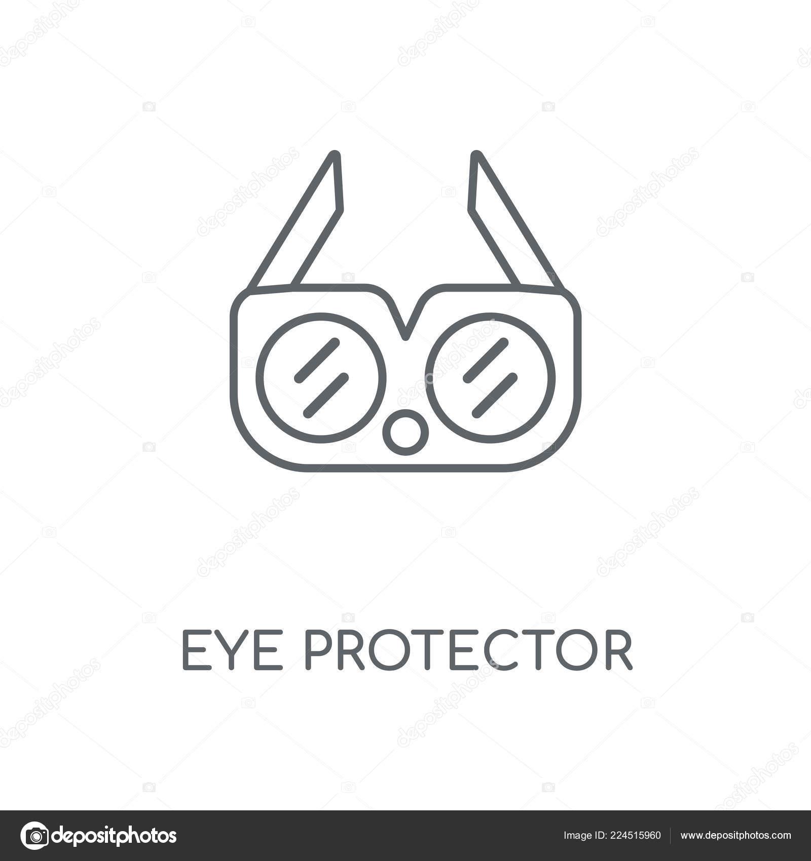 Eye Protector Linear Icon Eye Protector Concept Stroke Symbol Design