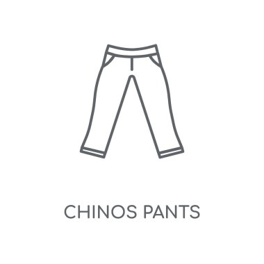 Chinos Pants linear icon. Chinos Pants concept stroke symbol design. Thin graphic elements vector illustration, outline pattern on a white background, eps 10.