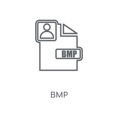 Bmp linear icon. Bmp concept stroke symbol design. Thin graphic elements vector illustration, outline pattern on a white background, eps 10.