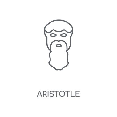 Aristotle linear icon. Aristotle concept stroke symbol design. Thin graphic elements vector illustration, outline pattern on a white background, eps 10.