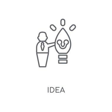 Idea linear icon. Idea concept stroke symbol design. Thin graphic elements vector illustration, outline pattern on a white background, eps 10.