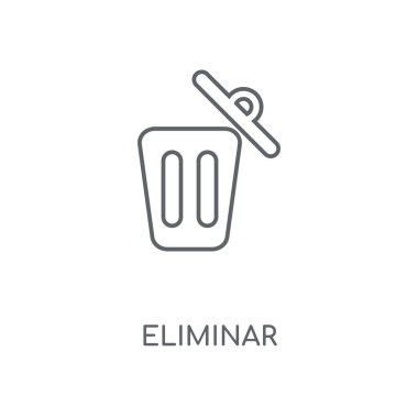 Eliminar linear icon. Eliminar concept stroke symbol design. Thin graphic elements vector illustration, outline pattern on a white background, eps 10.
