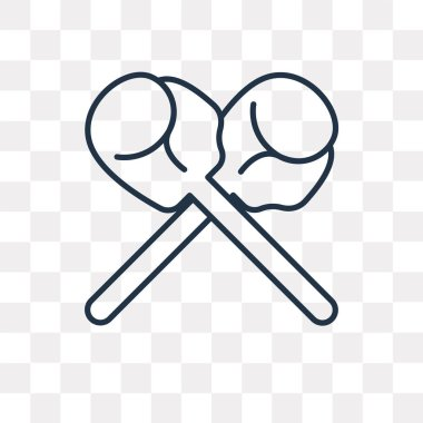 Boxing vector outline icon isolated on transparent background, high quality linear Boxing transparency concept can be used web and mobile