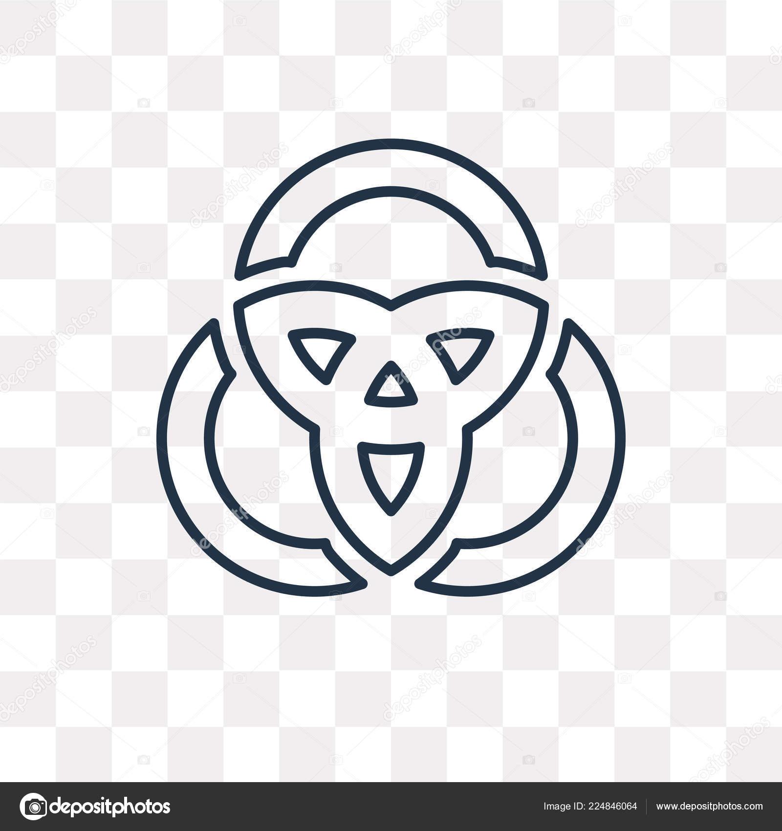 Venn Diagram Vector Outline Icon Isolated Transparent