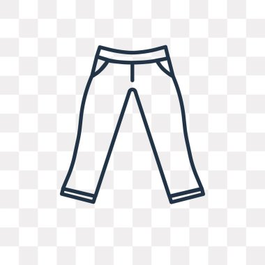 Chinos Pants vector outline icon isolated on transparent background, high quality linear Chinos Pants transparency concept can be used web and mobile