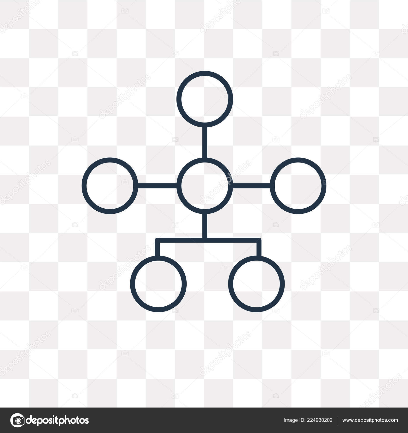 hierarchical structure vector outline icon isolated transparent background high quality stock vector c mmvector 224930202 https depositphotos com 224930202 stock illustration hierarchical structure vector outline icon html