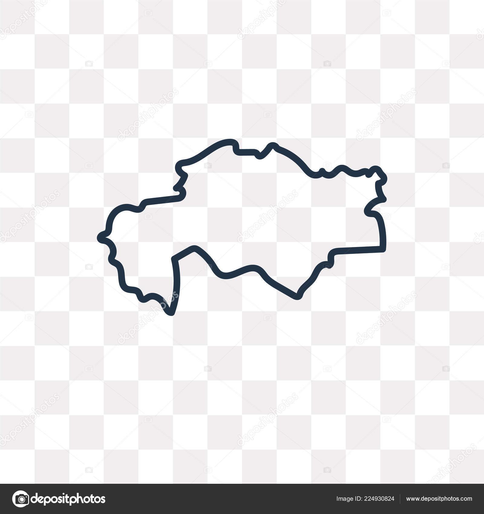 Kazahsztan Terkep Vektoros Szerkezeti Ikon Elszigetelt Atlatszo