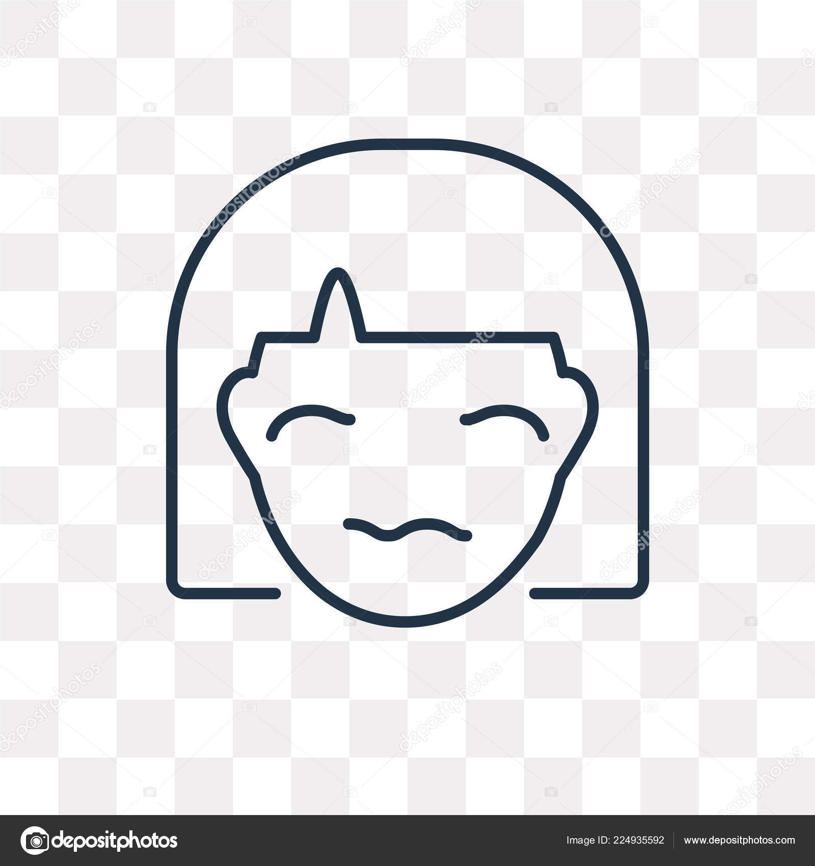 sceptic vector outline icon isolated transparent background high
