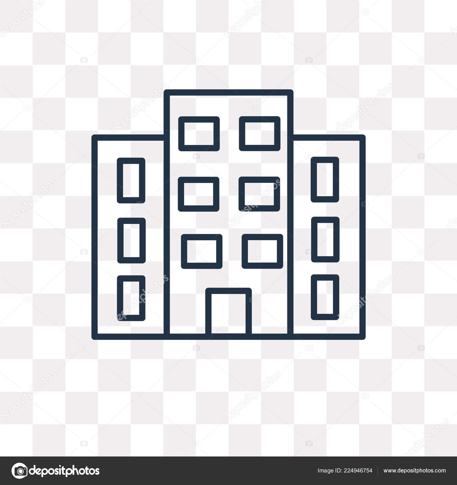 Company Vector Outline Icon Isolated Transparent Background High Quality Linear Stock Vector C Mmvector 224946754
